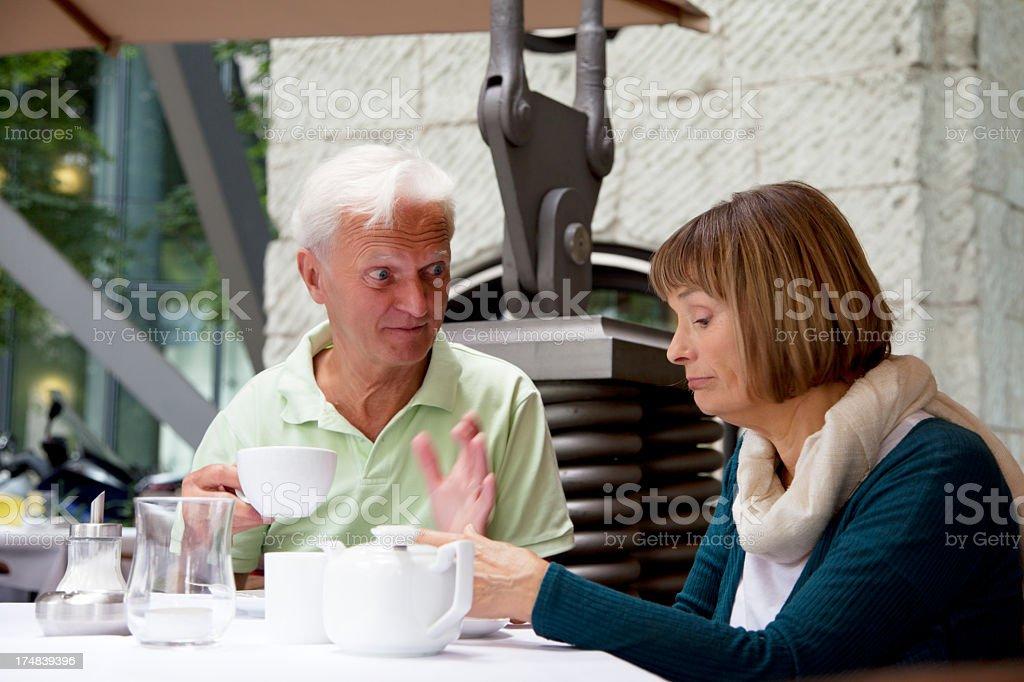 senior couple having tea royalty-free stock photo