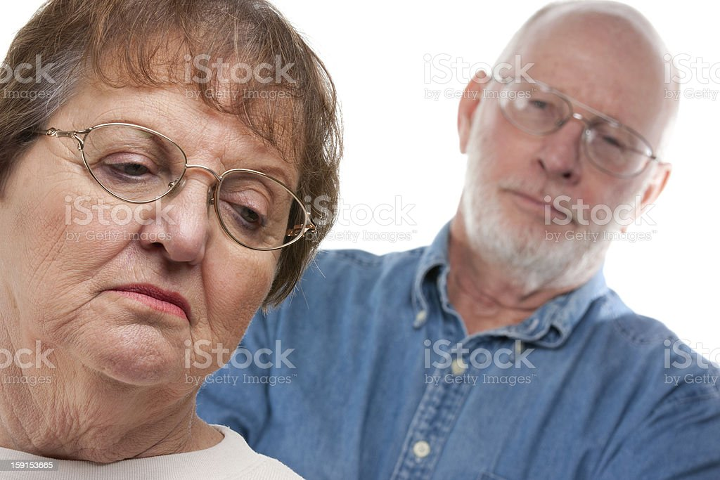 Senior Couple in an Argument royalty-free stock photo