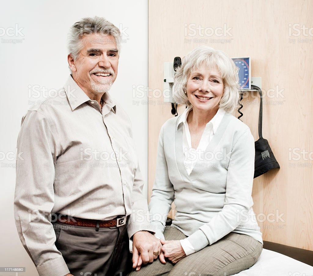 Senior Couple in an Examination Room royalty-free stock photo