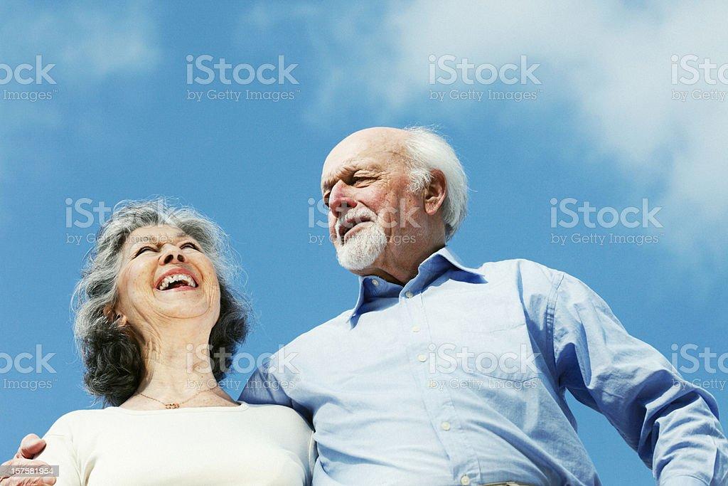 Senior Couple in Arm royalty-free stock photo