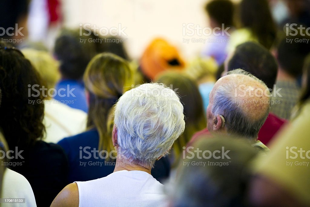 Senior couple in audience royalty-free stock photo