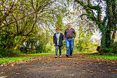 Senior couple in autumnal rural setting