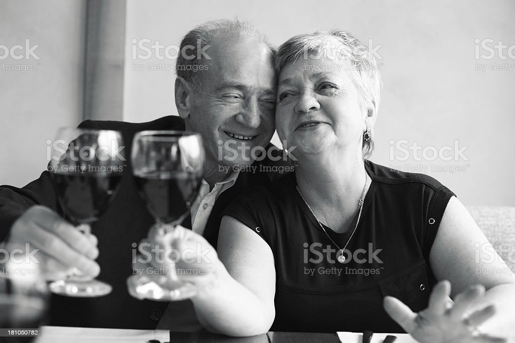 Senior Couple In Love royalty-free stock photo