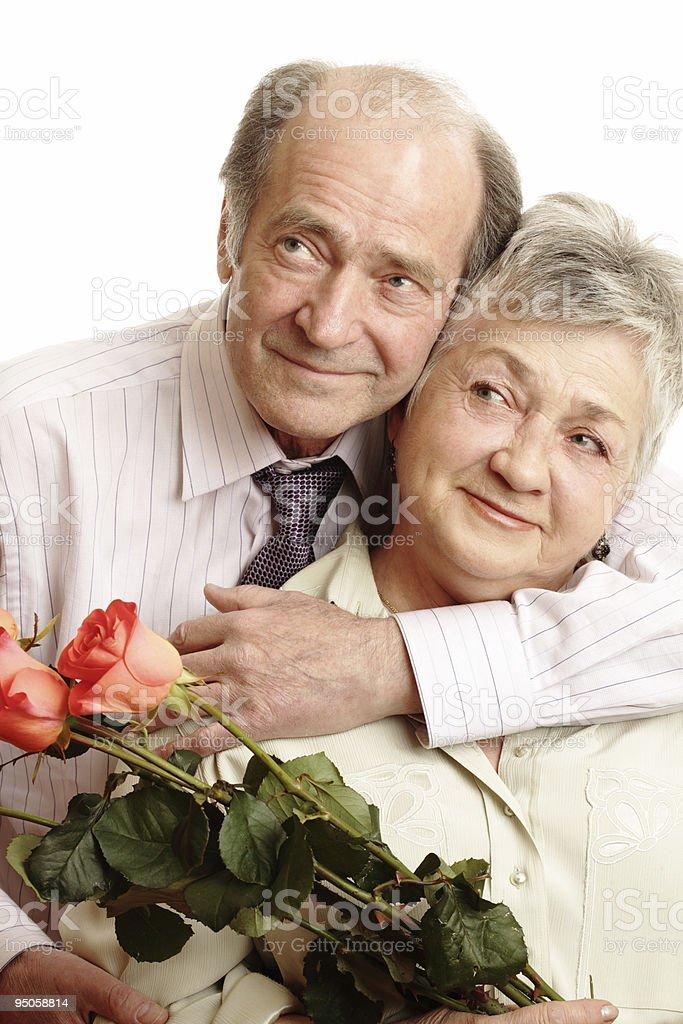 Senior Couple In Love royalty-free stock photo