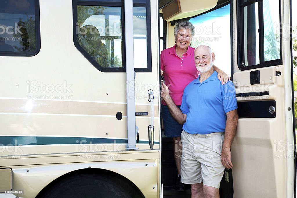 Senior Couple in their RV royalty-free stock photo