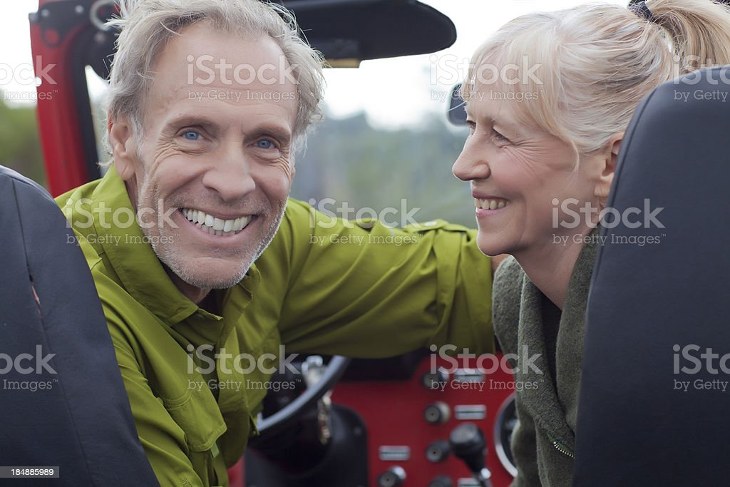 Senior couple in Vehicle royalty-free stock photo