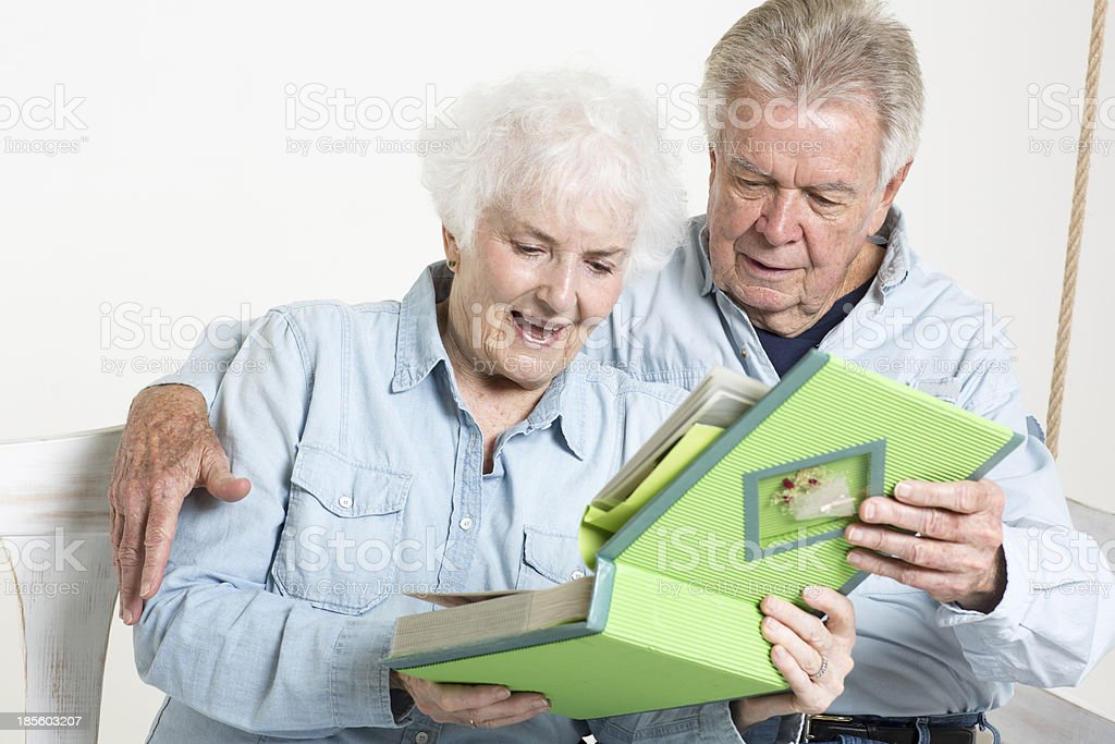 Senior couple is sharing a special moment royalty-free stock photo