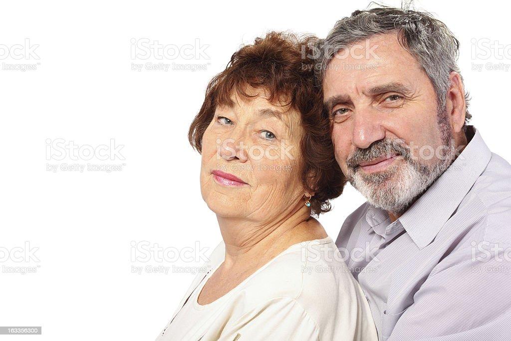Senior couple, isolated royalty-free stock photo