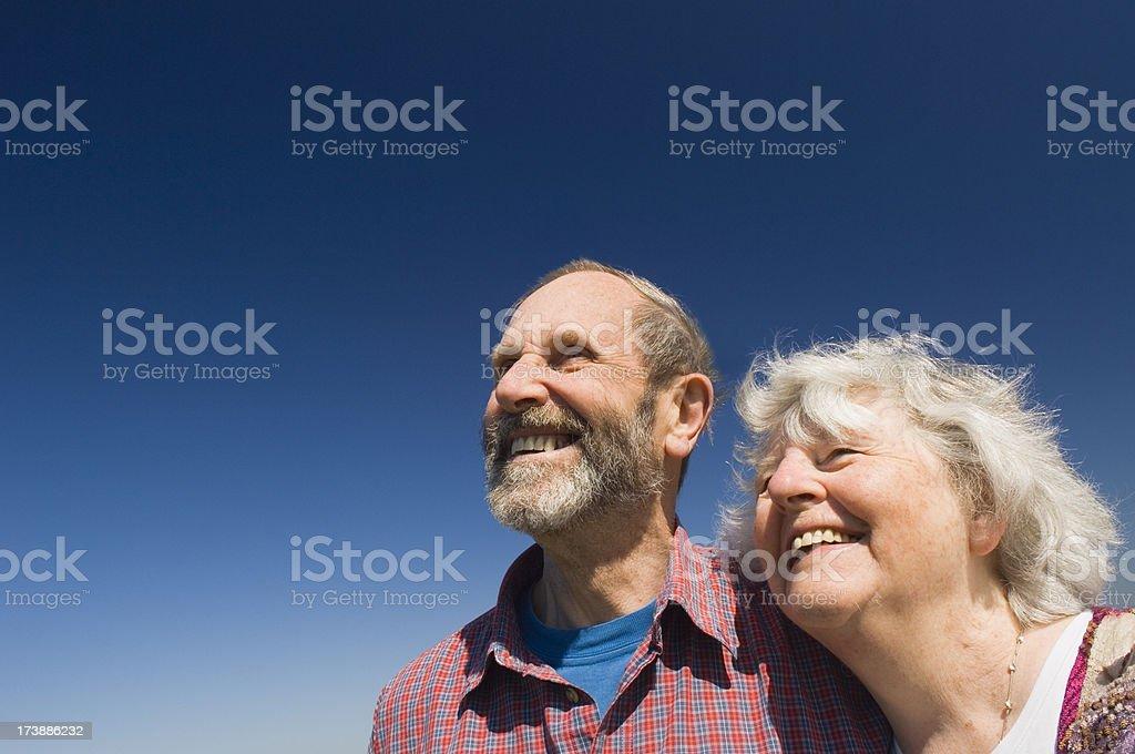 Senior couple laughing royalty-free stock photo