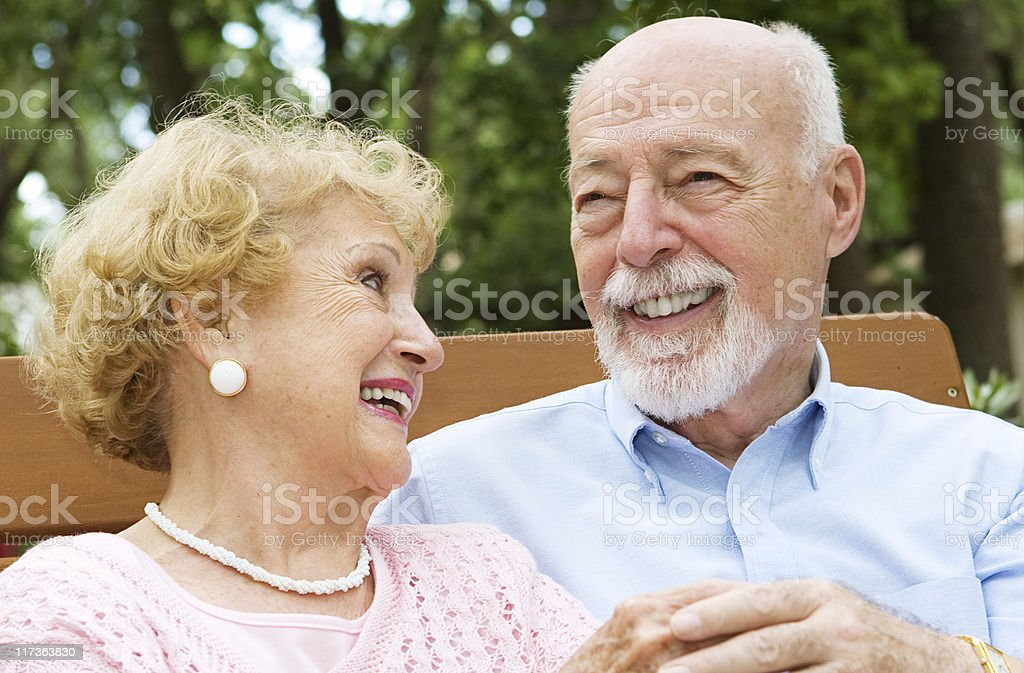 Senior Couple - Love and Laughter stock photo