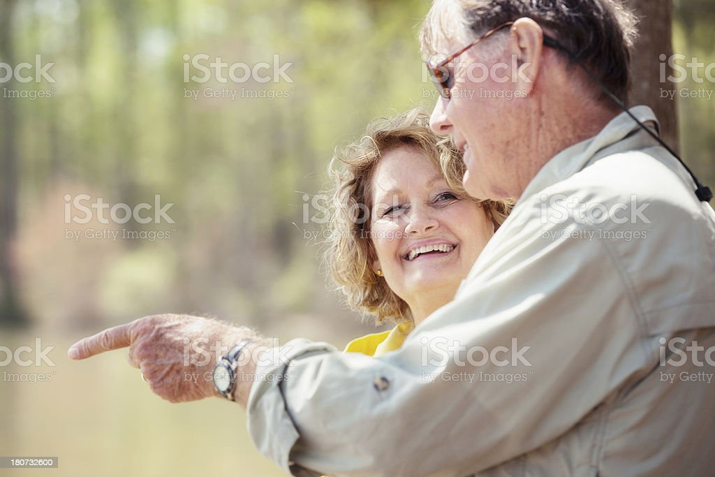senior couple on an outing royalty-free stock photo