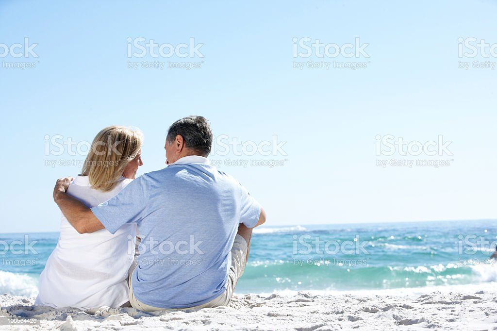 Senior Couple On Holiday royalty-free stock photo