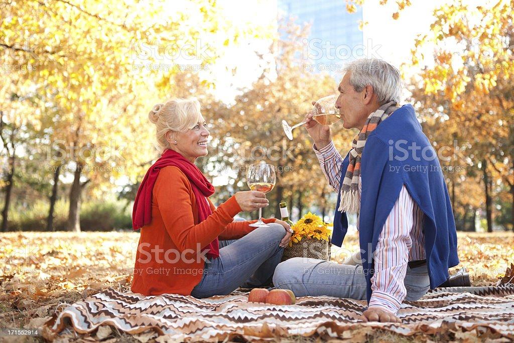 Senior couple outdoor. royalty-free stock photo