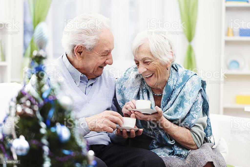 Senior couple stock photo