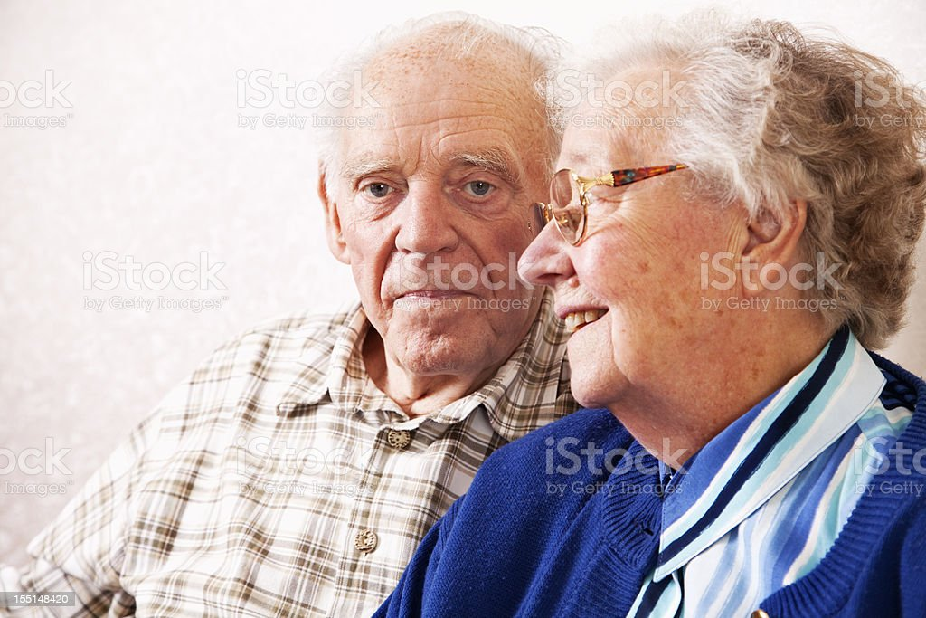 senior couple portrait royalty-free stock photo