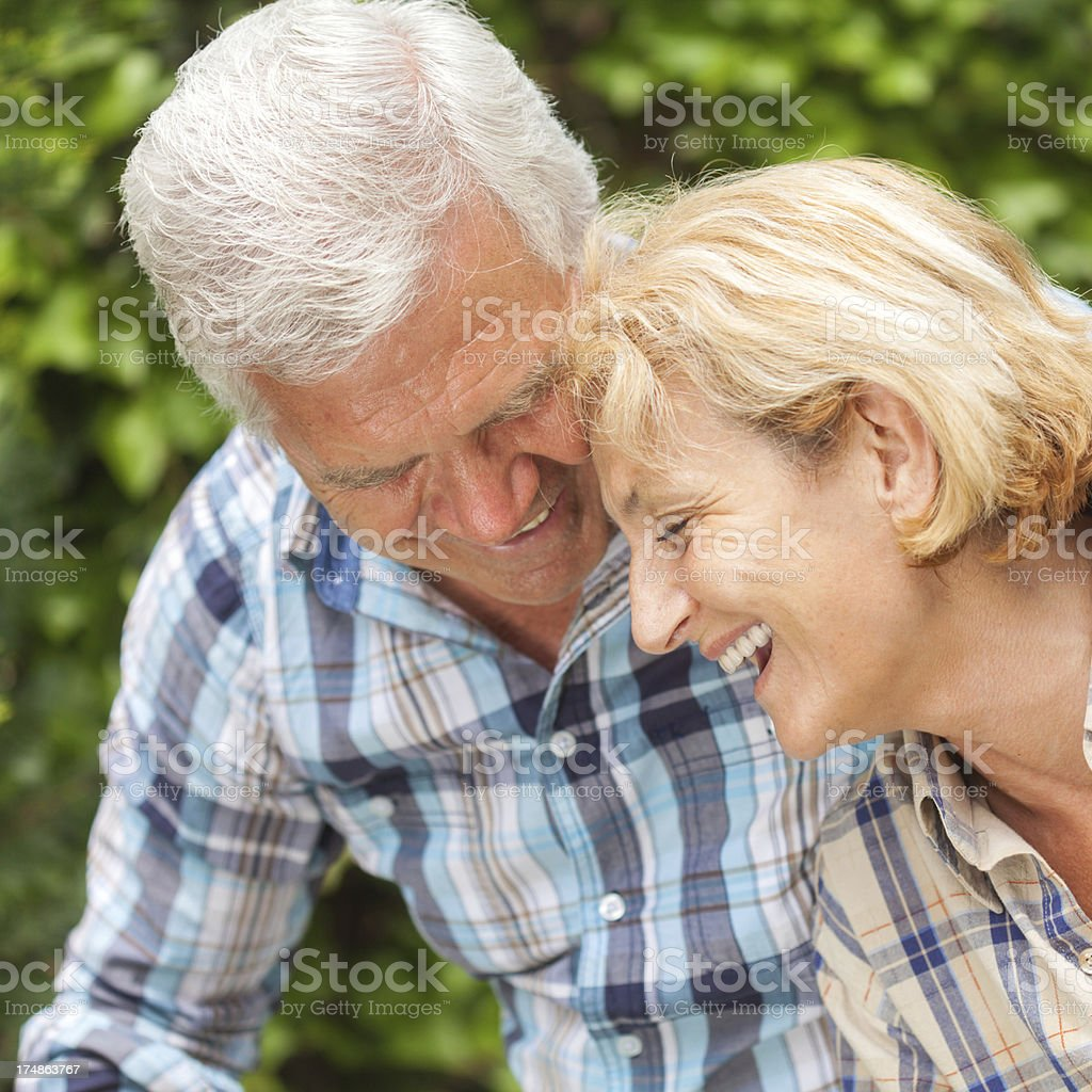 Senior couple portrait royalty-free stock photo