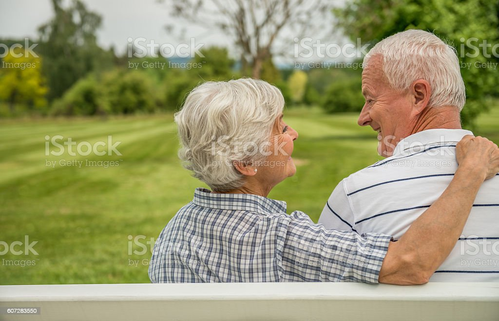 Senior Couple - Relaxing And Having Fun Together stock photo