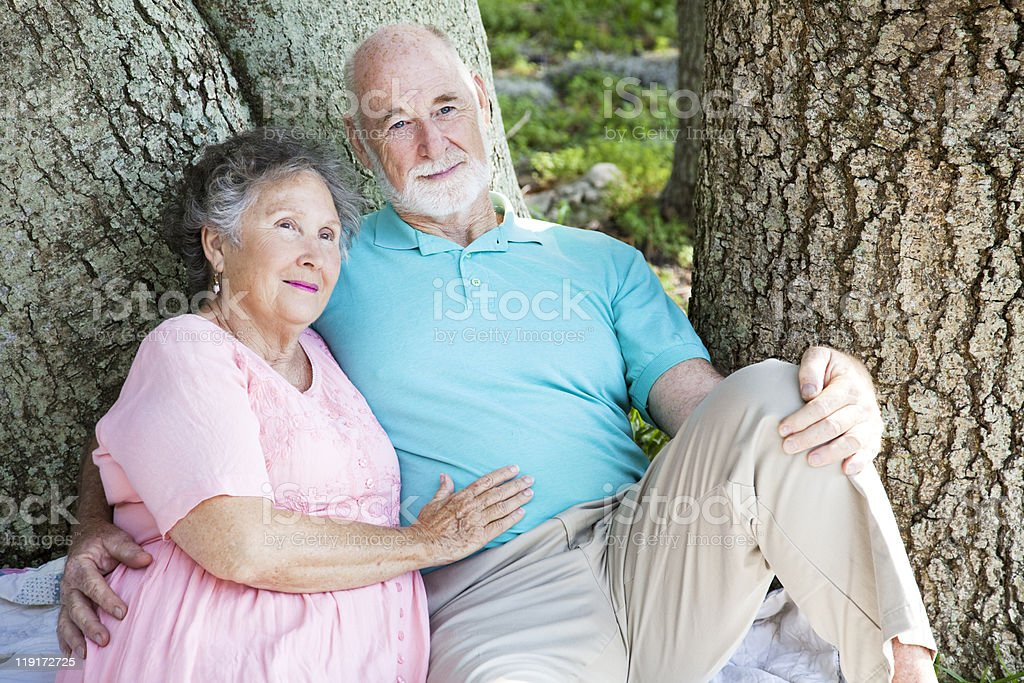 Senior Couple - Relaxing Together royalty-free stock photo
