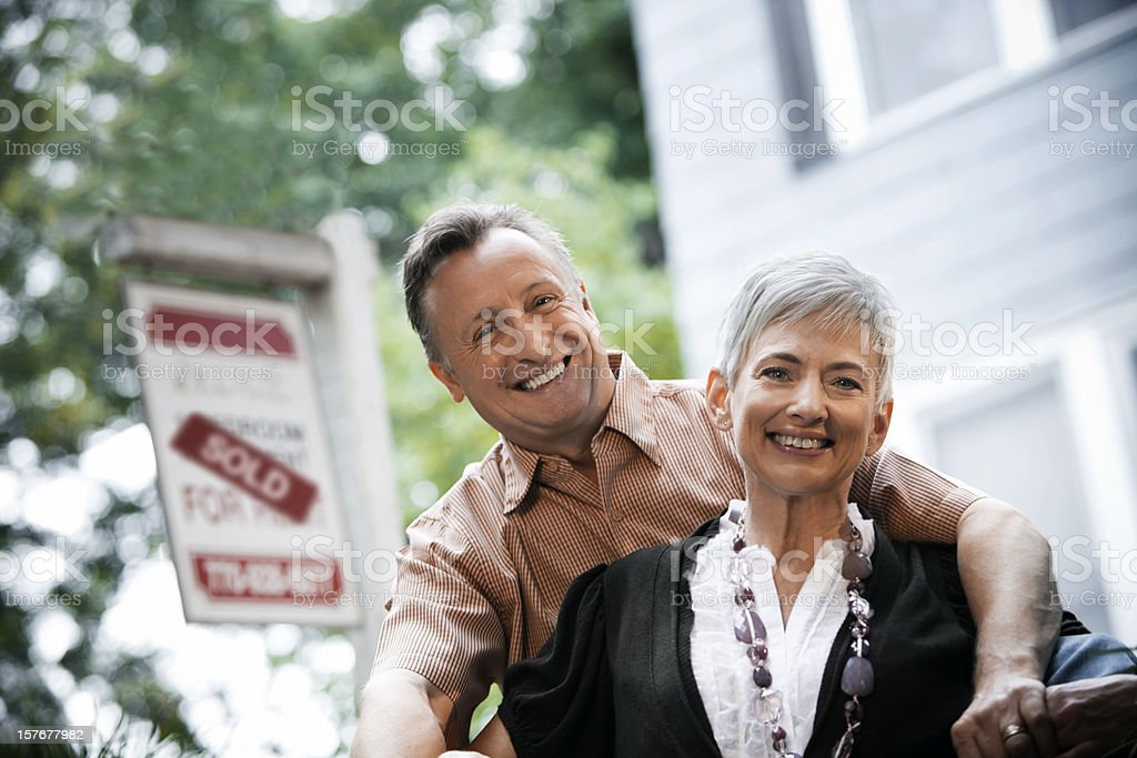Senior Couple Selling a Home royalty-free stock photo