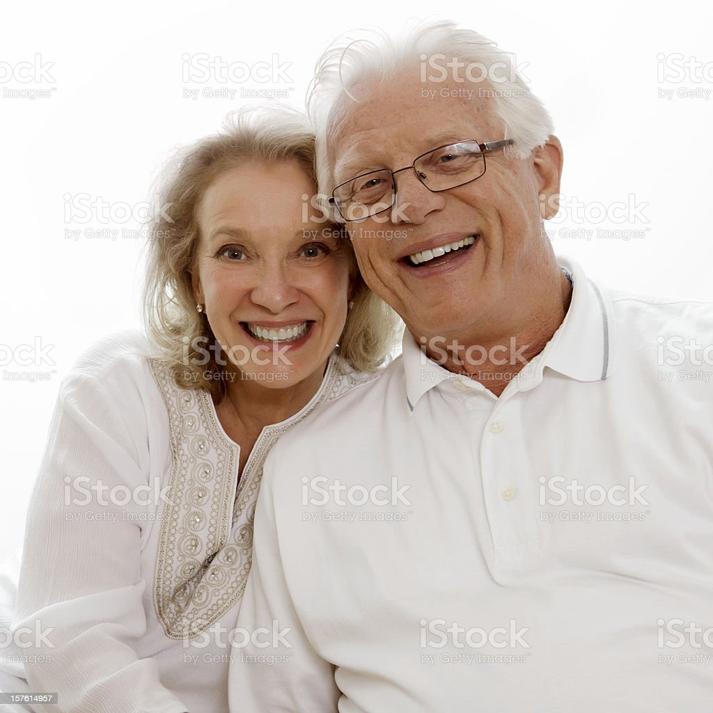 Senior Couple Smiling - Isolated royalty-free stock photo