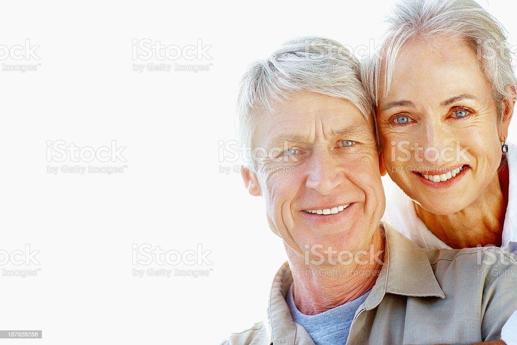 Senior couple smiling royalty-free stock photo