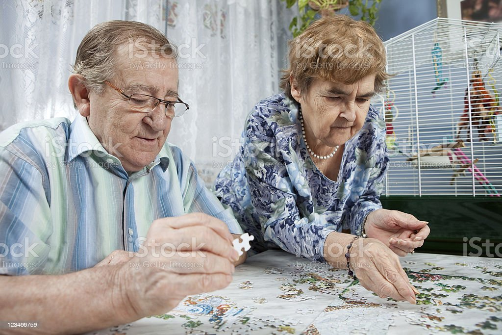 Senior Couple spending quality time together stock photo