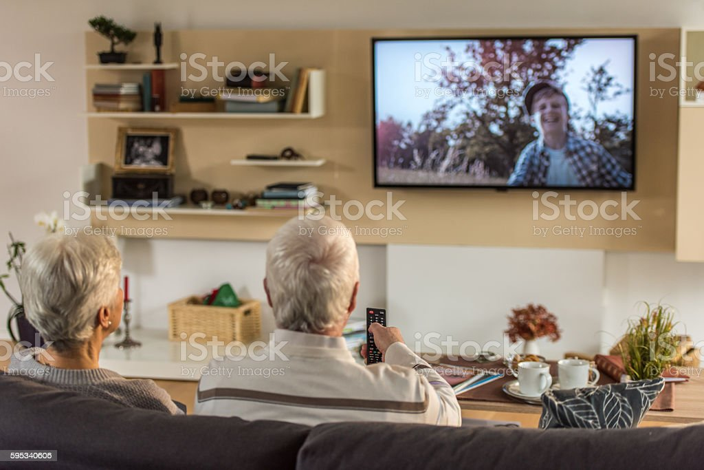 Senior couple spending time together stock photo