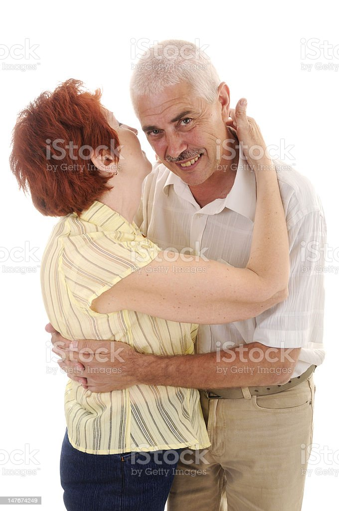 senior couple studio isolated royalty-free stock photo