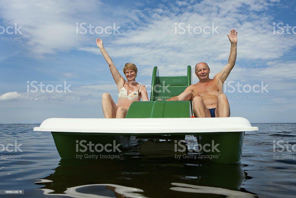 senior couple summer royalty-free stock photo