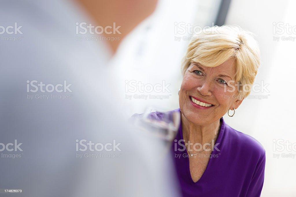 Senior couple toasting royalty-free stock photo