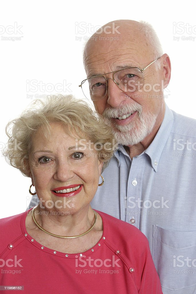 Senior Couple Together Vertical royalty-free stock photo