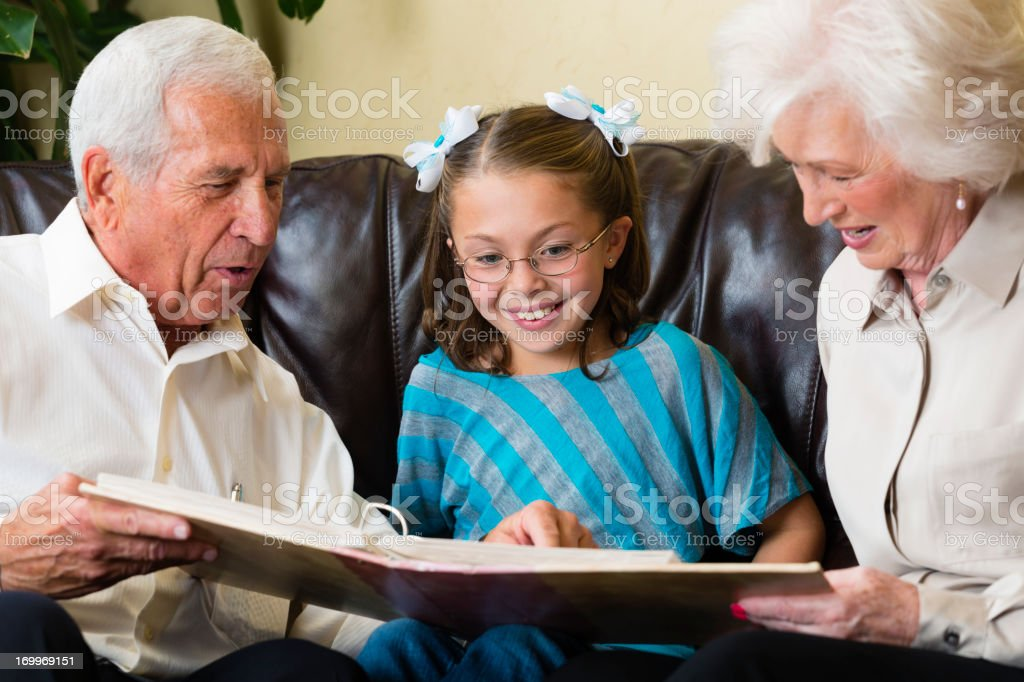 Senior Couple with Little Girl royalty-free stock photo