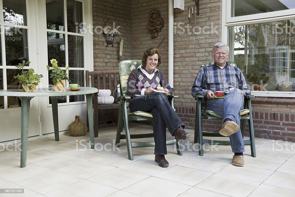 Senior couple # 2 XXXL royalty-free stock photo