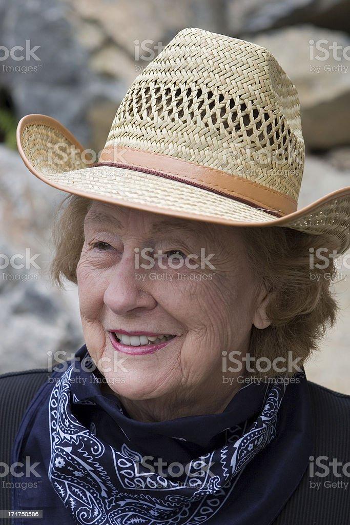 Senior Cowgirl royalty-free stock photo