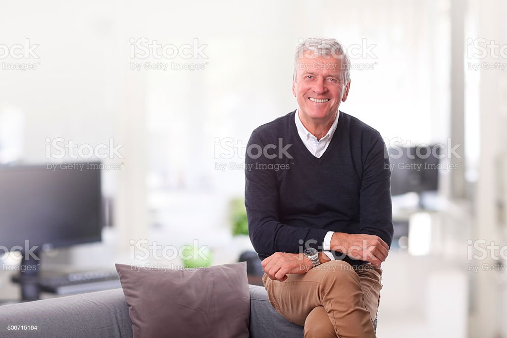 Senior creative director stock photo