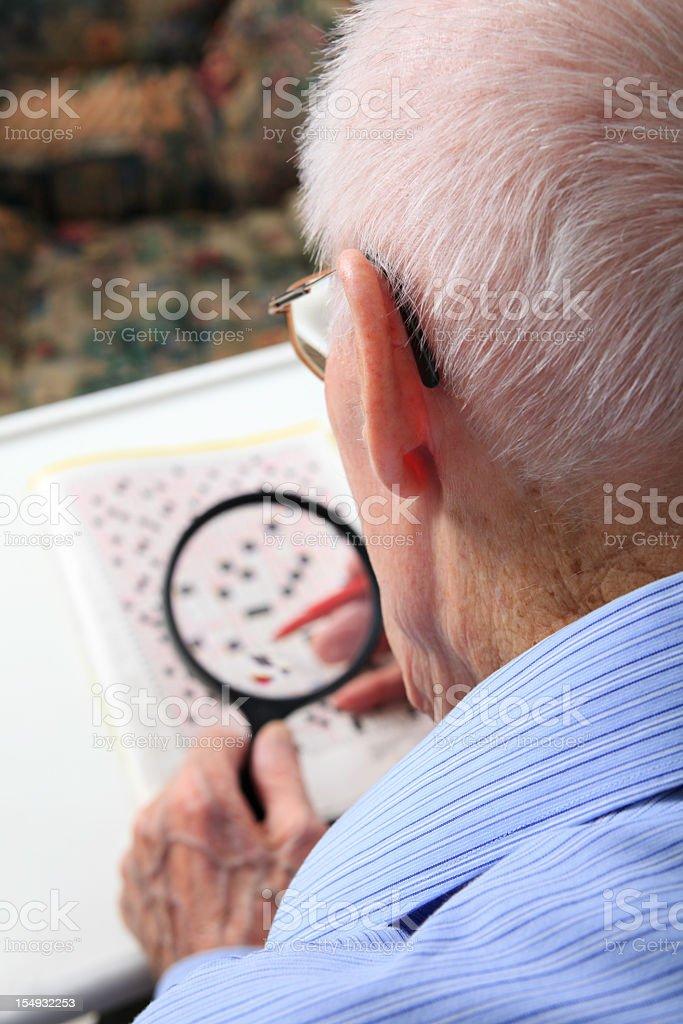 Senior Crossword royalty-free stock photo