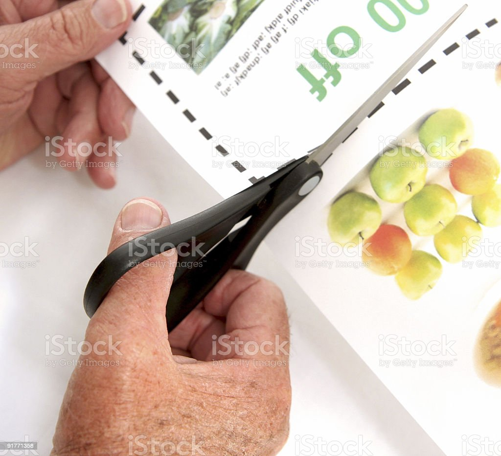 senior cuts coupons stock photo