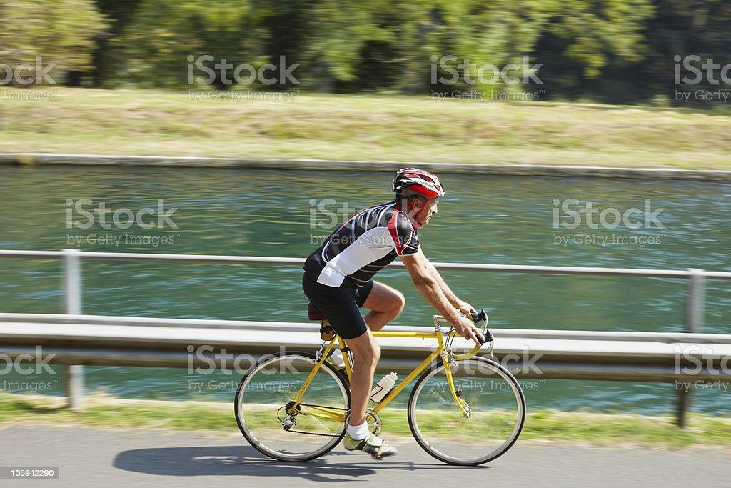 senior cyclist royalty-free stock photo