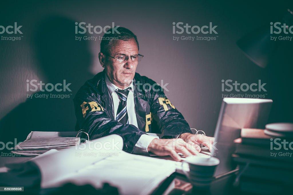 Senior detective stock photo