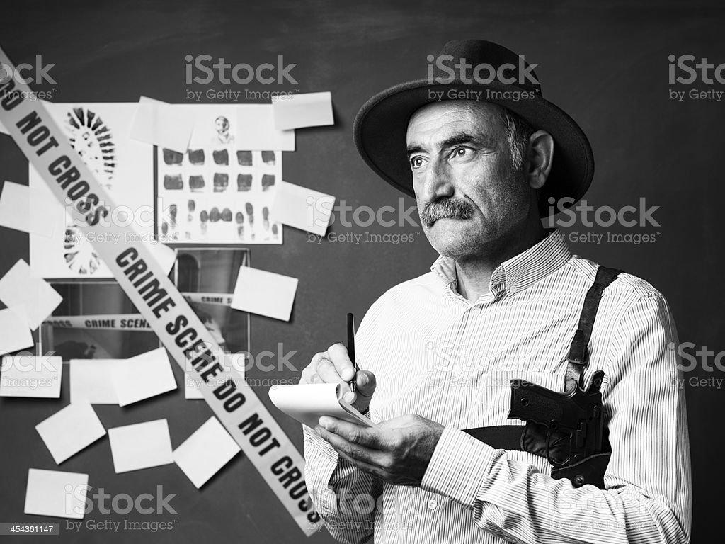 Senior detective portrait royalty-free stock photo