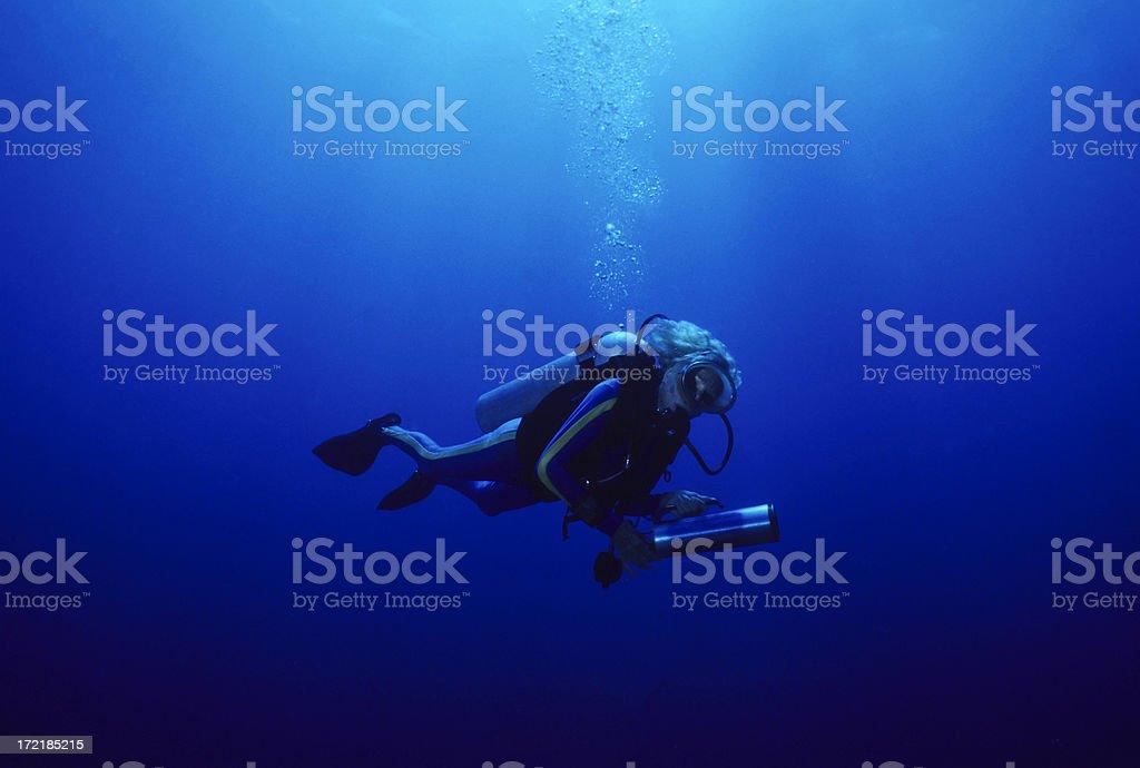 Senior Diver royalty-free stock photo
