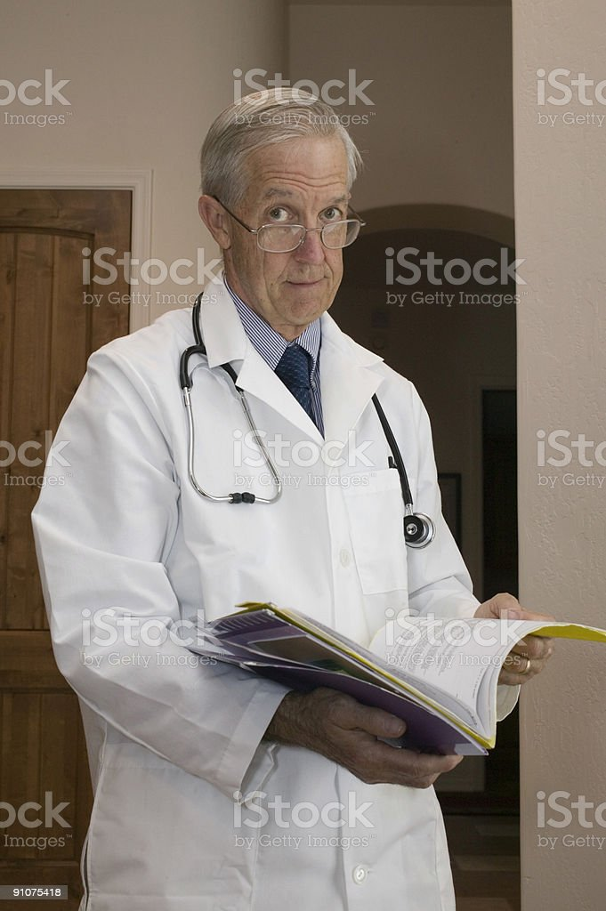 Senior doctor royalty-free stock photo
