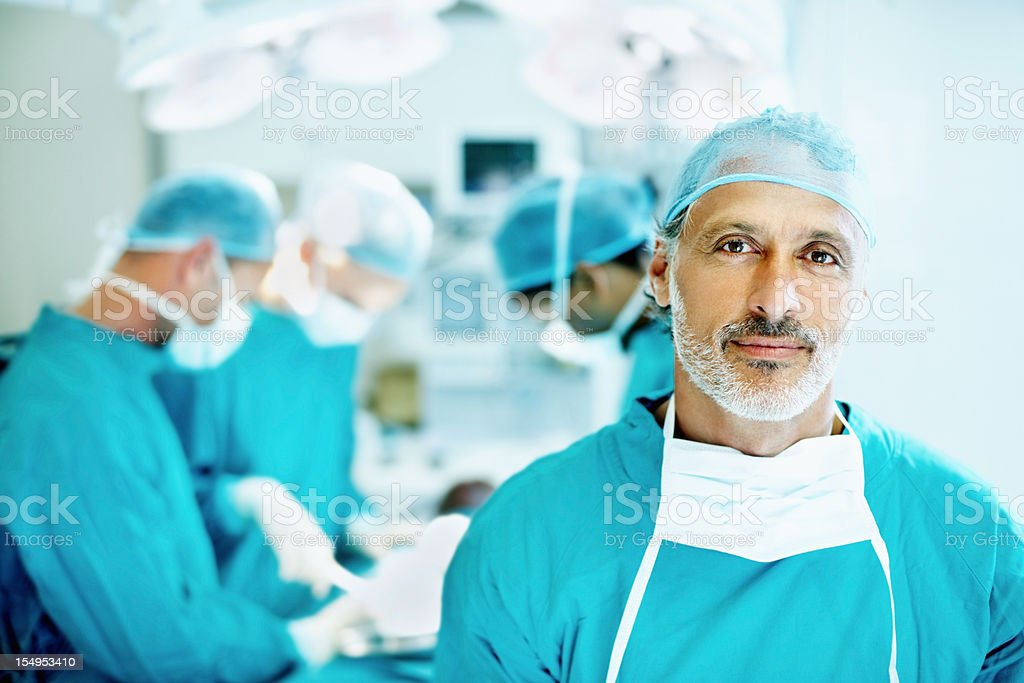 Senior doctor smiling stock photo