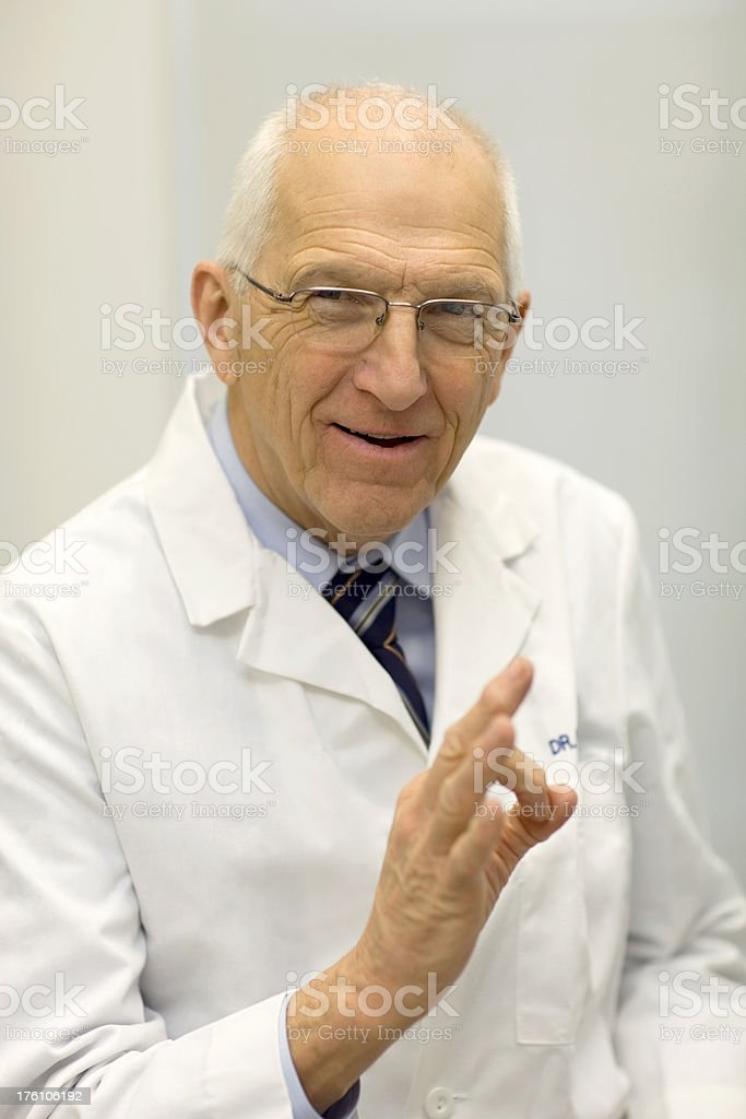 Senior Doctor's OK Sign royalty-free stock photo