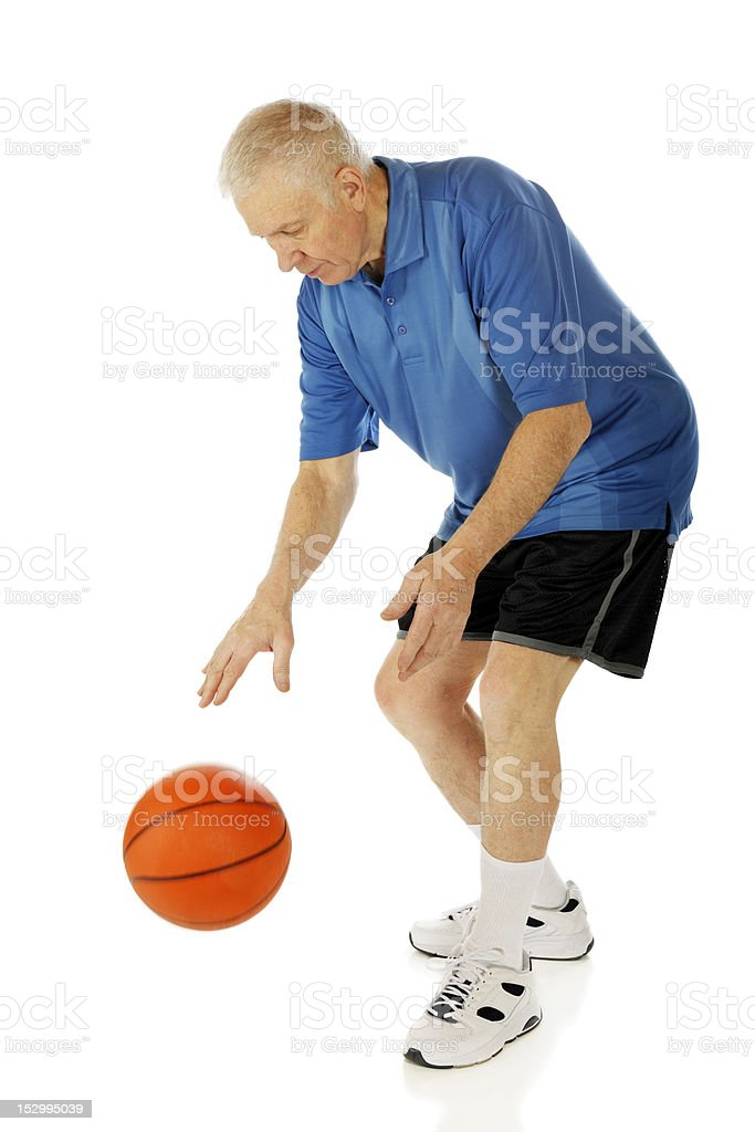 Senior Dribbler royalty-free stock photo