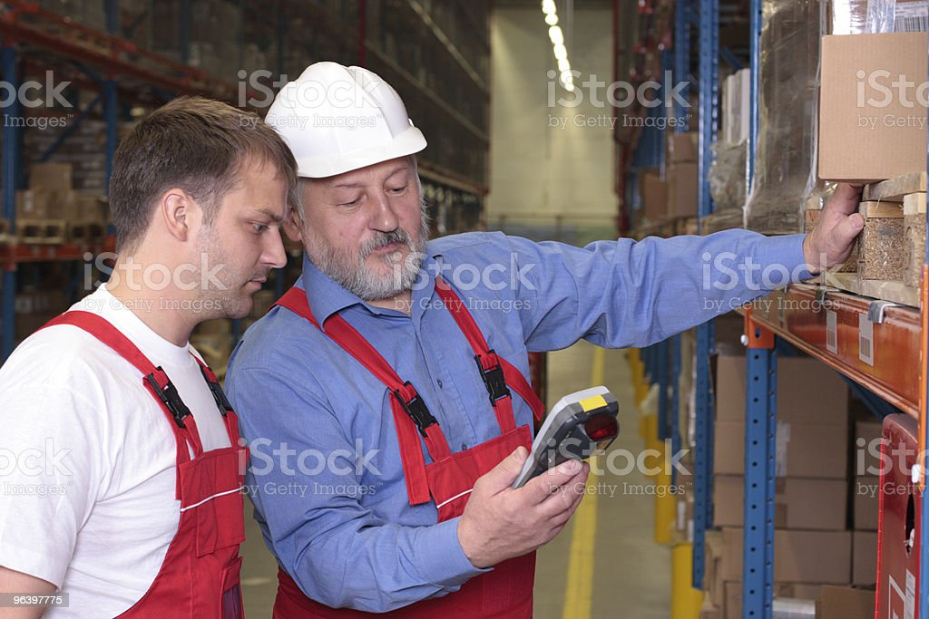 senior engineer and newly hired employee royalty-free stock photo