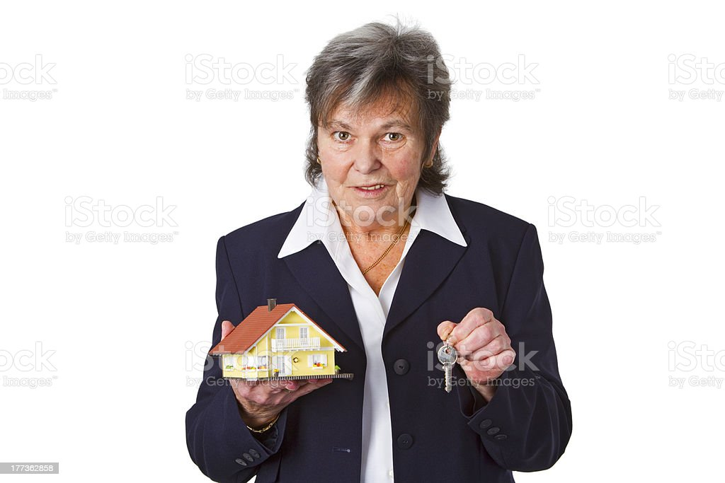 Senior estat agent stock photo