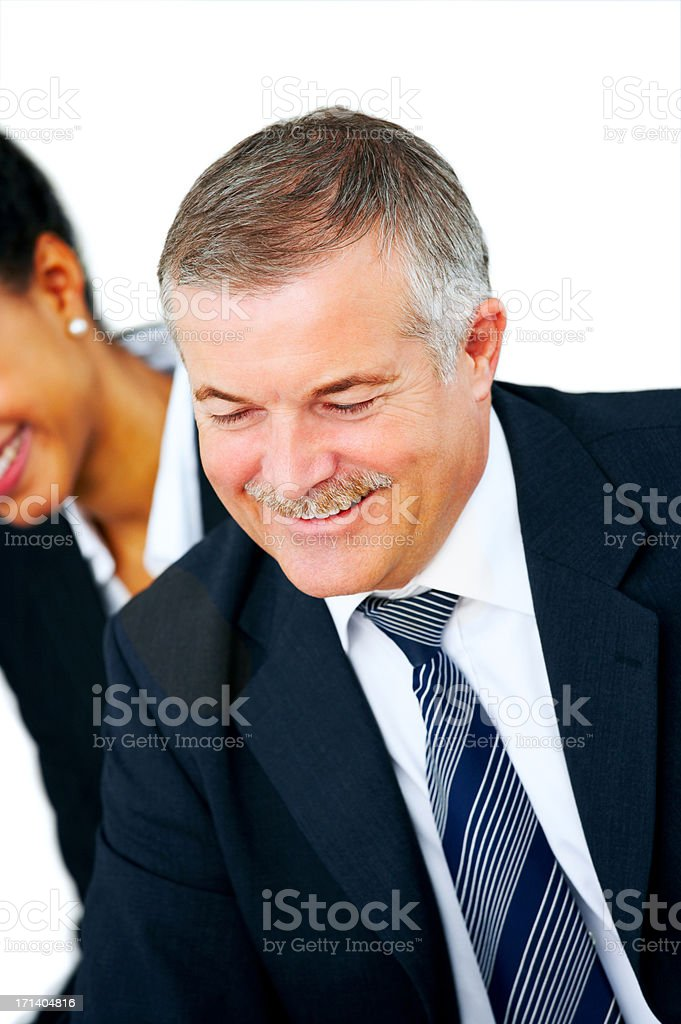 Senior executive business man royalty-free stock photo