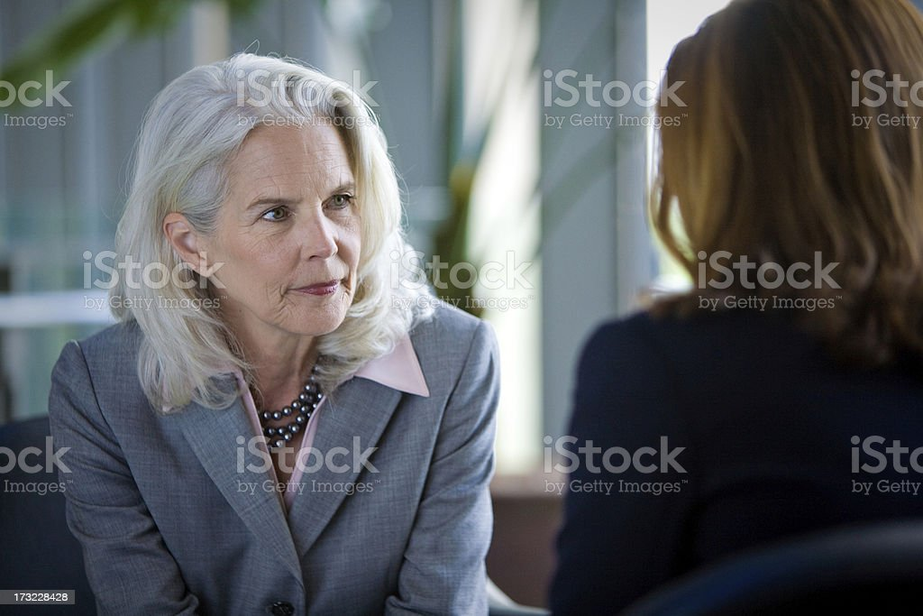Senior Executive: Listening royalty-free stock photo