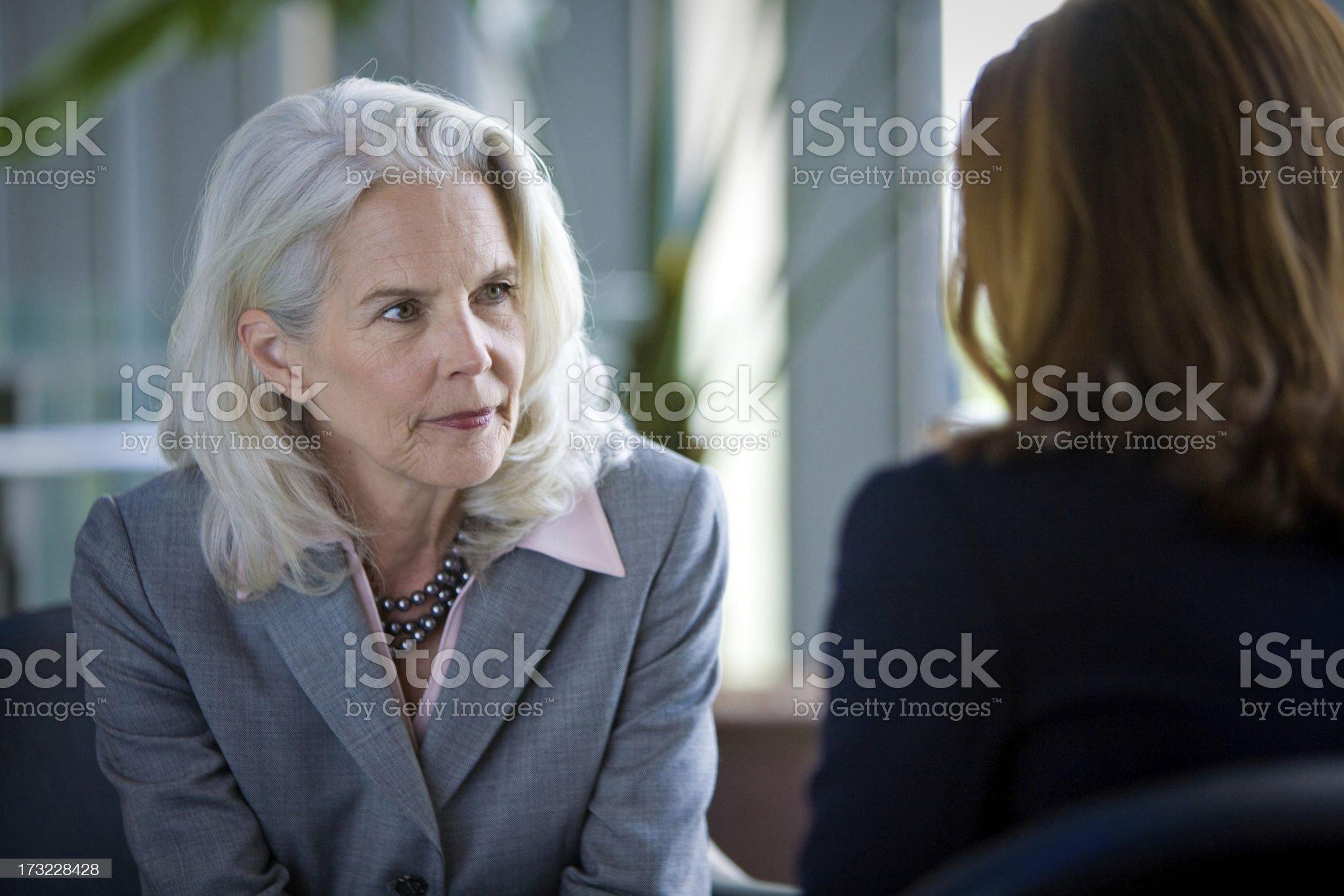 Senior Executive: Listening royalty-free stock photo
